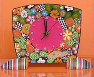 Polymer clay clock 2011