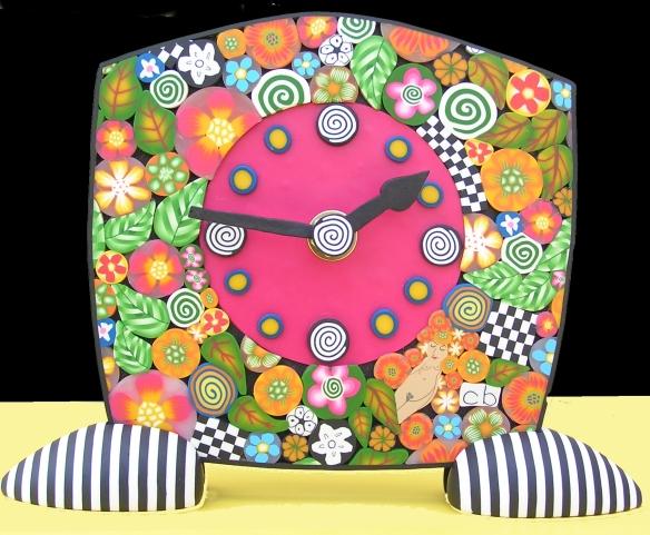 polymer clay clock 2008