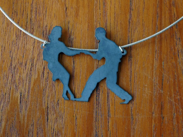 swing dance pendant