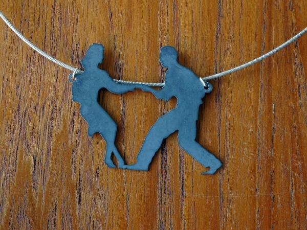 swing dance pendant