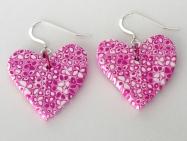 pink earrings edit